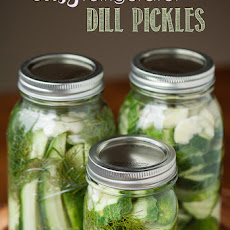 Easy Refrigerator Dill Pickles
