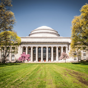 Temple of Education ! by Abhay Sharma - Buildings & Architecture Other Exteriors ( building, sky, mit, scenic, spring, sun )