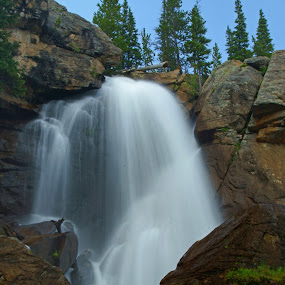 Ouzel Falls by Justin Giffin - Nature Up Close Water ( water, nature, waterfall, colorado, rocky mountain national park, landscapes,  )
