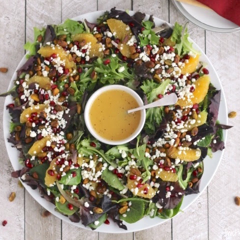 Christmas Salad with Citrus-Champagne Vinaigrette