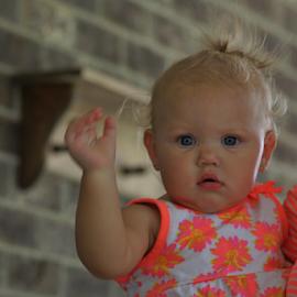 Waving Bye Bye by Terry Linton - Babies & Children Child Portraits (  )