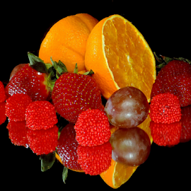 fruits with candys by LADOCKi Elvira - Food & Drink Fruits & Vegetables ( candys, fruits )