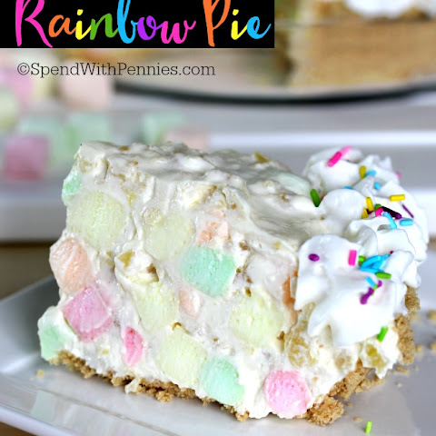No Bake Rainbow Pie