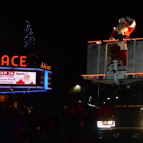 Santa opens the Christmas season in style! by Thomas Fitzrandolph - Public Holidays Christmas ( autumn, celebrations, santa claus, niagara county ny, christmas, firetruck, nikon d5200, parades, lockport ny,  )