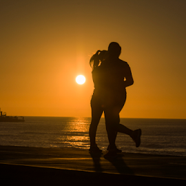 Love at sunset by Yuval Shlomo - People Couples