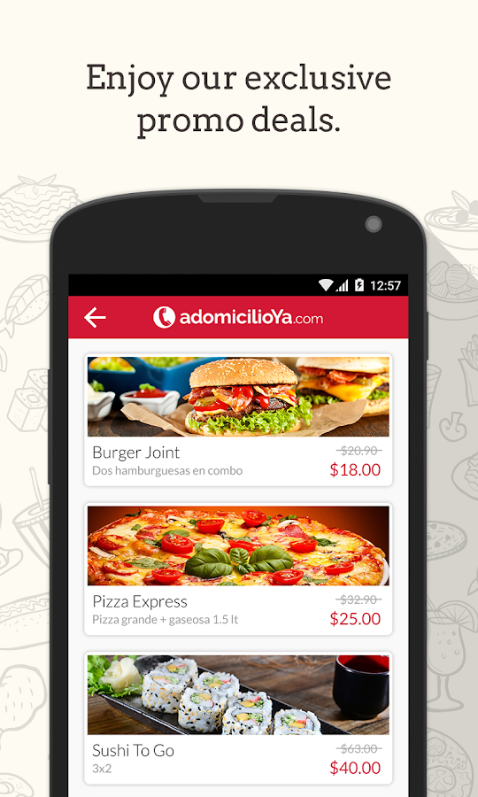 adomicilioYa.com - Order food Screenshot 3