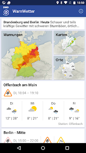 WarnWetter screenshot for Android