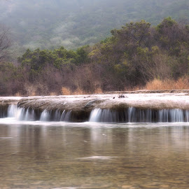 Hill Country Falls by Michelle Newport - Nature Up Close Water ( water, stock image, waterfalls, nature, waterfall, fine art, canvas, nature up close )