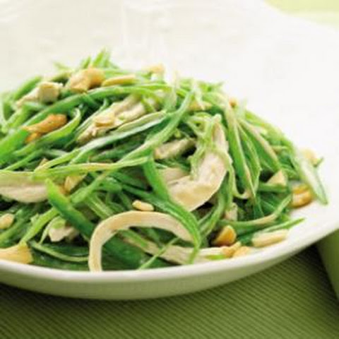 Warm Snow Pea & Chicken Salad