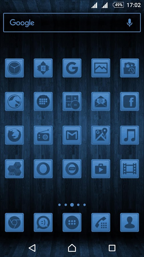 Wooden Icons Blue Screenshot 0