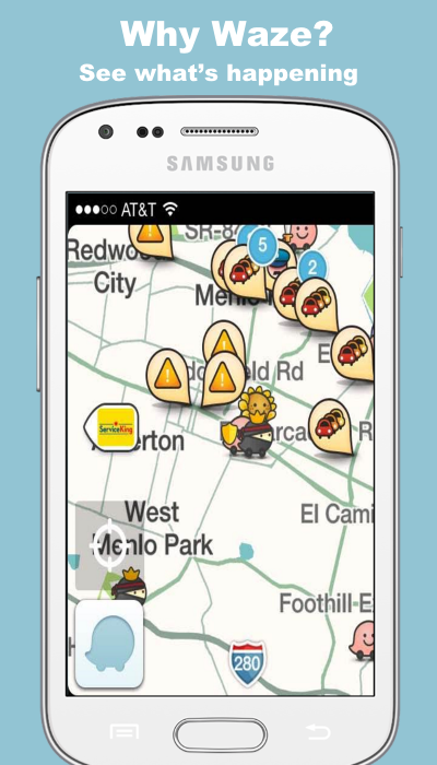 Free Waze GPS Karten und Traffic Tipps android apps download Download Waze Maps on