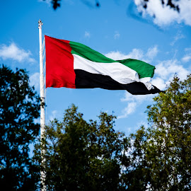 UAE by Masud Mallik - City,  Street & Park  Historic Districts ( sky, flag, colorful, uae, abu dhabi )