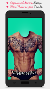 Man Tattoo Photo Suit - screenshot