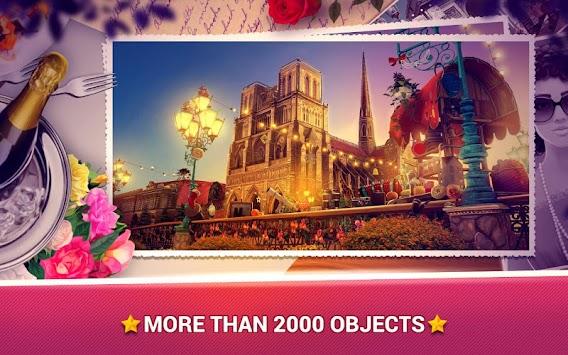 Hidden Objects - Love in Paris apk screenshot