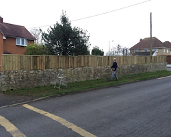 wooden fencing for homes in exeter, devon