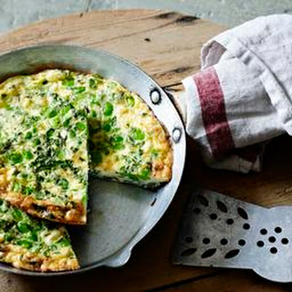Broad Bean And Feta Frittata