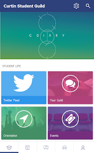 Curtin Student Guild G-Diary - screenshot