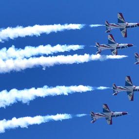 Sherdils by Tahir Sultan - Transportation Airplanes ( #bluskys, #sherdils, #islamabad, #fighterjets, #pakistan )