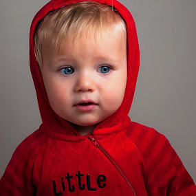 Little Devil by Michael Ripley - Babies & Children Babies ( home studio, flash, dexter, off camera, umbrella, shoot through, children, little devil, devil, portrait, reflector, red devil, family )