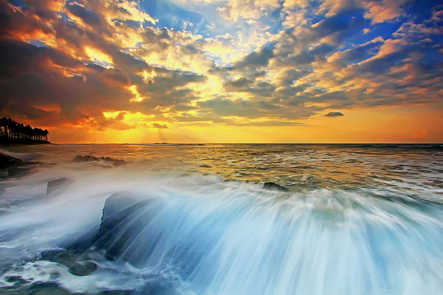 Morning Splash by Agoes Antara - Landscapes Waterscapes