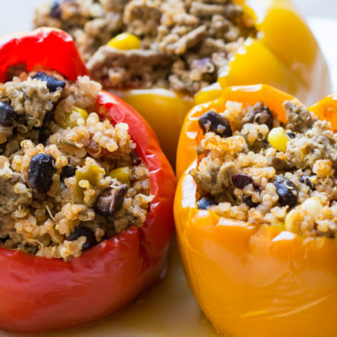 Crockpot Stuffed Peppers with Quinoa