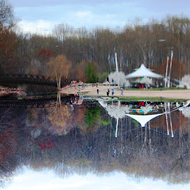 Recreation Reflected by Cecilia Sterling - City,  Street & Park  City Parks ( cecilia schmitt, reflection, parks, carousel, april 2015 )