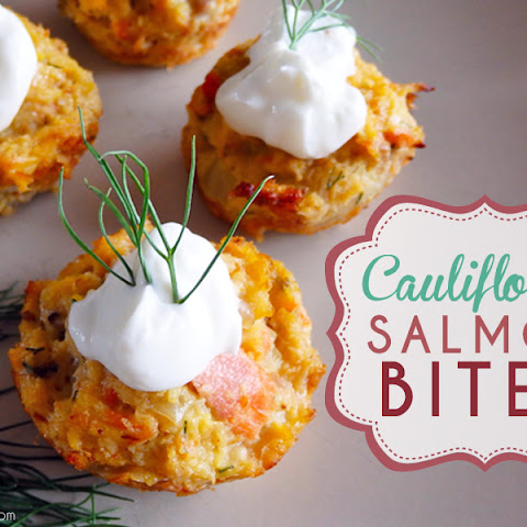 Cauliflower Salmon Bites