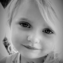 Blonde Sweetheart B&W by Cheryl Korotky - Black & White Portraits & People