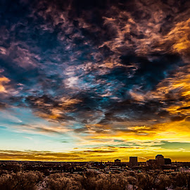 Sunrise Colorado Springs by Craig Turner - Landscapes Sunsets & Sunrises ( clouds, colorado springs, praire, colorado, landscape )