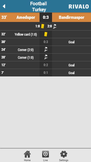 Rivalo Livescore Screenshot 2