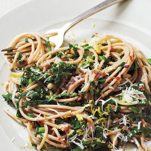 Spaghetti with Collard Greens and Lemon