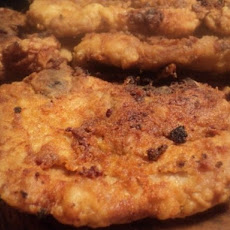 Mustard Rubbed Fried Pork Chops