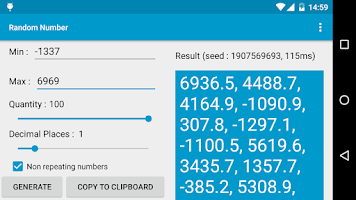 Screenshot of Random Number