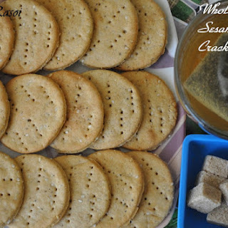 Whole Wheat Sesame Seed Crackers