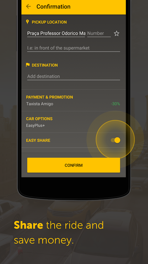 Easy - taxi, car, ridesharing Screenshot 3