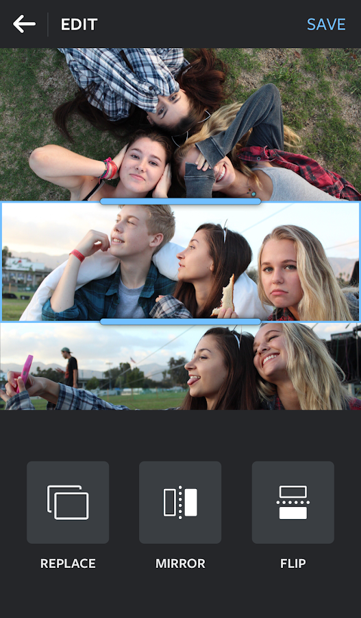 Layout aus Instagram: Collage android apps download