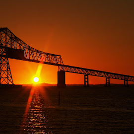 Astoria Or.  Sunset  by James Green - Buildings & Architecture Bridges & Suspended Structures