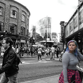 where next? by Kathleen Devai - City,  Street & Park  Street Scenes ( colour, crowds, street, mono, people )