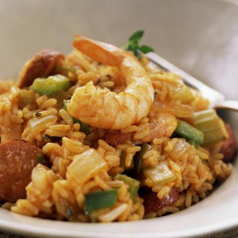 Classic Chicken and Shrimp Jambalaya With Sausage