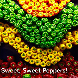Sweet Peppers by Lope Piamonte Jr - Typography Captioned Photos
