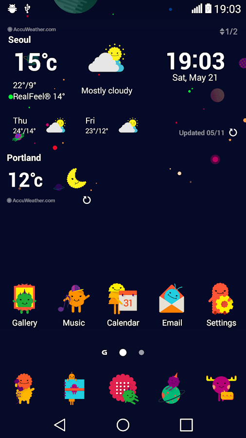 Space Theme for LGHome Screenshot 3