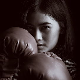 by Eko Probo D Warpani - Black & White Portraits & People ( girls, strobist, boxing, beauty, cute )