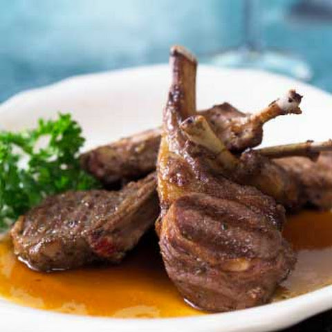 Grilled Lamb Chops with Rosemary and Mint Recept | Yummly