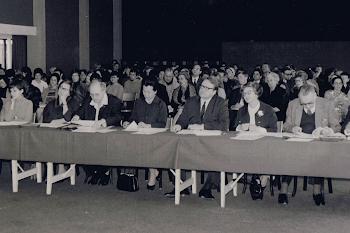 Messiaen Compettion, 1968 (C. Samuel, I. Biret, M. Kitchin, Olivier Messiaen, S. Hara de Cassado, M. Le Roux, Yvonne Loriod, J. Fevrier, A. Boucourechliev)