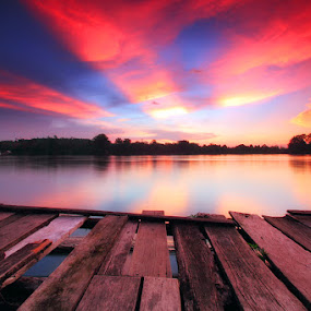 When The Sun Goes Down by Kosmas Fikie Aryadi - Landscapes Waterscapes