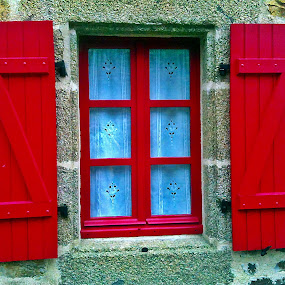 Window by Dobrin Anca - Buildings & Architecture Architectural Detail ( holiday, window, street, brittany, walk,  )