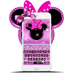 Cute Minny Pink Bowknot Keyboard Theme Icon