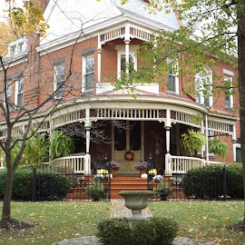 1890 Victorian by Dale Moore - Buildings & Architecture Architectural Detail ( home, autumn, victorian, pennsylvania, autumn colors, homes )