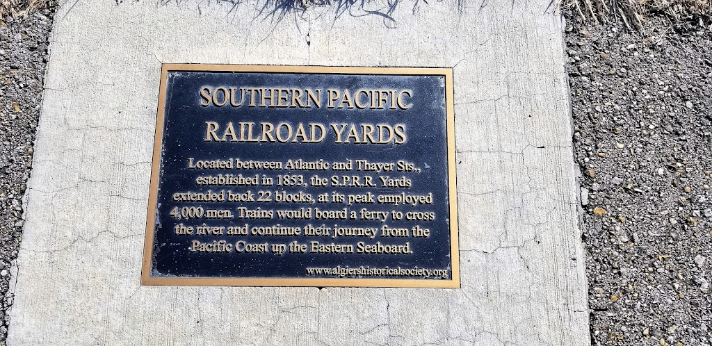 Located between Atlantic and Thayer Sts., established in 1853, the S.P.R.R. Yards extended back 22 blocks, at its peak employed 4,000 men. Trains would board a ferry to cross the river and continue ...