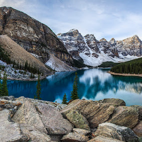 Moraine Lake by CK Lam - Landscapes Mountains & Hills